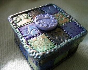 Polymer Clay Mosaic Tiled Trinket Box