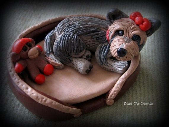 Polymer Clay Dog and Sock Monkey Toy
