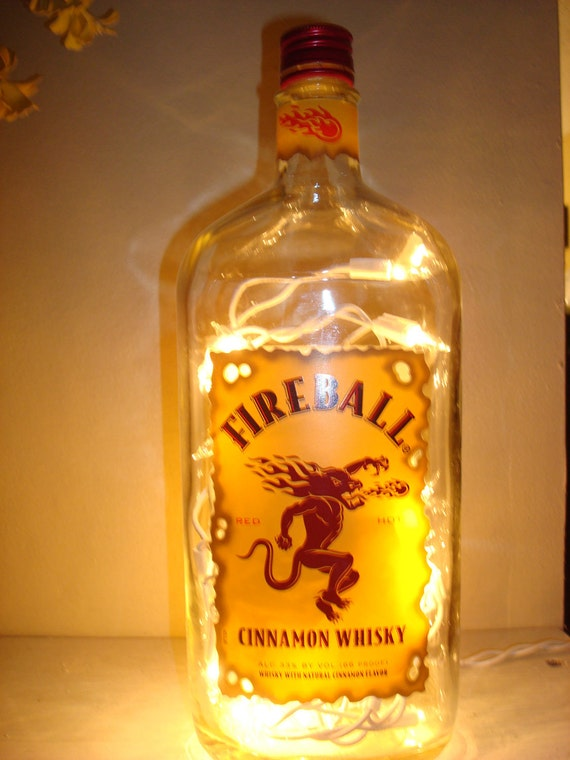 Fireball Cinnamon Whiskey Glass Bottle Light