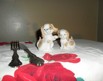 Cute Little Dog Salt and Pepper Shakers
