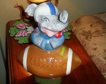 Decanter Regal China Jim Beam Football Elephant