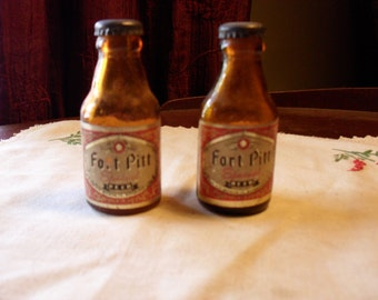 Fort Pitt Beer Bottle Shakers Pittsburgh Historic Out of Production