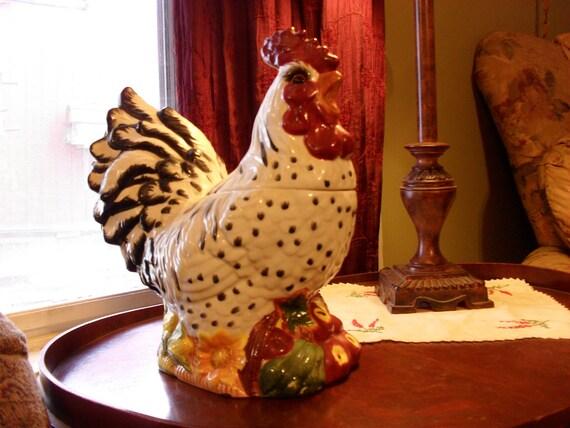 Rooster and Vegetables Cookie Jar