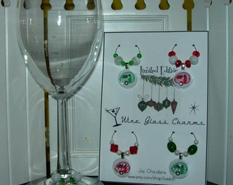 HOLIDAY Tab Teardrop Trailer Wine Glass Charms  Limited Edition