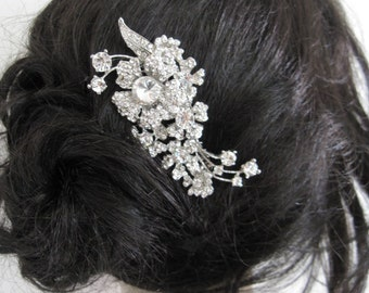 Wedding hair jewelry bridal hair comb 1920's wedding accessories bridal hair jewelry wedding hair comb bridal accessories wedding hairpiece