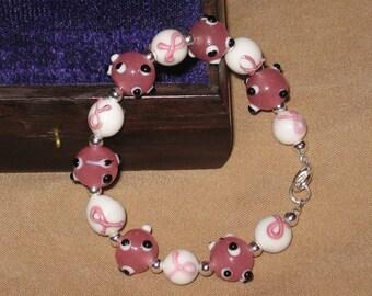Pink Ribbon Cancer Awareness Bracelet - 6
