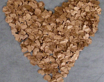 Rustic Wedding Decoration, 500 Paper Hearts (FREE SHIPPING)