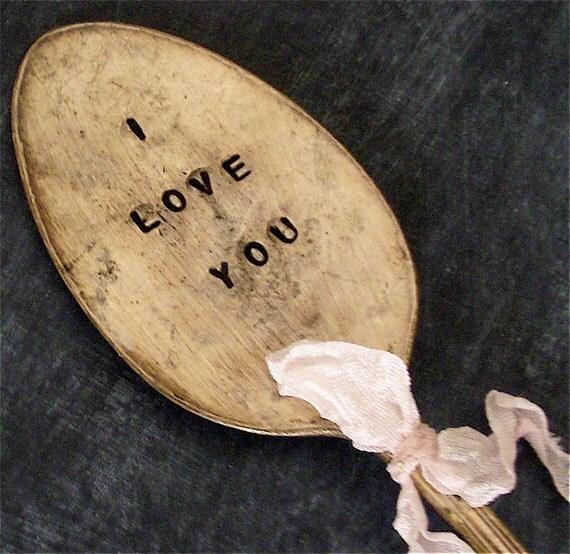 I LOVE YOU Vintage Spoon