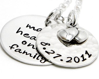 Personalized Mommy Jewelry - Hand Stamped Neckace
