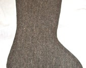 Christmas stocking- grey felt- size large