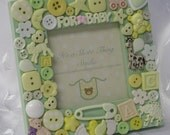 For Baby Embellished Button Picture Frame