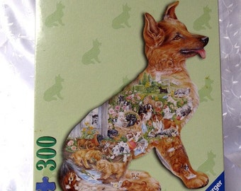 Puppy Love 300 Piece Dog Shaped Puzzle Autographed by Artist