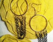 chains of class organic earrings
