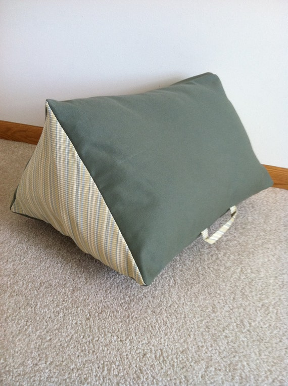 Cheese wedge pillow support your legs & back with this