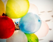 Fine Art Photography, balloons, Yellow, colors, party 8 x 8'
