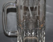 Glass Etched Beer Mug