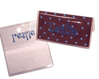 Vinyl Checkbook Cover with Duplicate Check Flap - Monogram