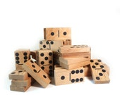 Large wooden dominoes, vintage childrens game
