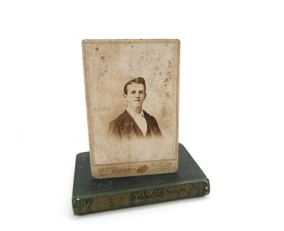 Antique Cabinet card portrait of a young man - 1800s