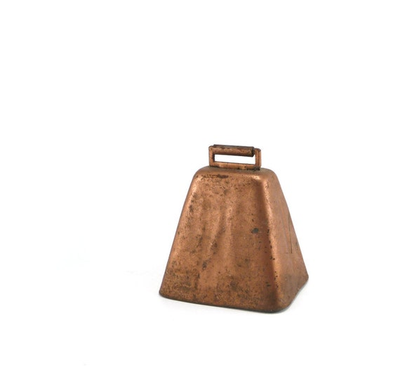 More Cowbell - vintage copper cow bell, rustic farmhouse home decor