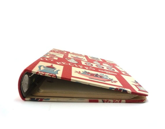 My recipes binder in red white and blue