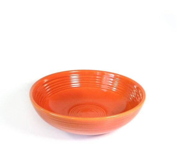 Tangerine tango - Vintage Fiesta Dinnerware red individual salad bowl