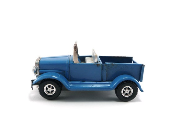 Blue toy truck - vintage Zoomer Boomer by Topper Toys