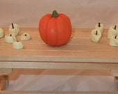 Hand made polymer clay Dolls house Halloween pumpkin