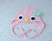 Sweet Baby Bird - Newborn up to 3 months - Pink  - Crochet