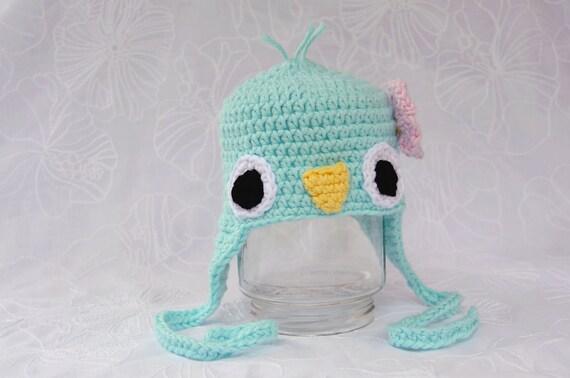 Sweet Baby Blue Bird - Newborn  - Crochet