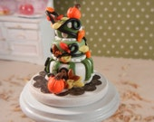 Dollhouse Miniature 3 Tiered Fall Cake - ON SALE - 1/12th scale