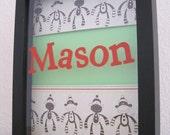 Personalized Child/Baby Name  - Many Monkeys - Mason