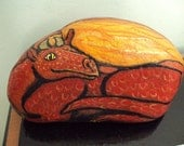Red Fire Dragon pet rock