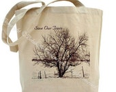 Large Eco Friendly Save Our Trees  Bag