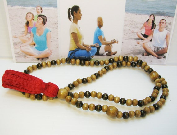 Mala Meditation Necklace, 108 Bead Mala,  Focus Jewelry
