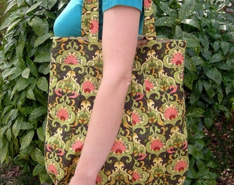 Floral Purse and Matching Flame Stitch Eye Glass Case and Pocket Tissue Holder