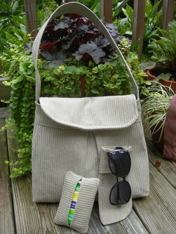 Corduroy Purse With Matching Accessories