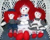 Handmade Raggedy Ann & Andy Dolls