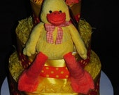 Duck Diaper Cake For Baby Shower or Baby Gift