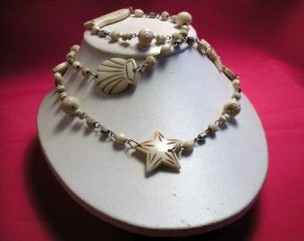 Undersea Bone Necklace