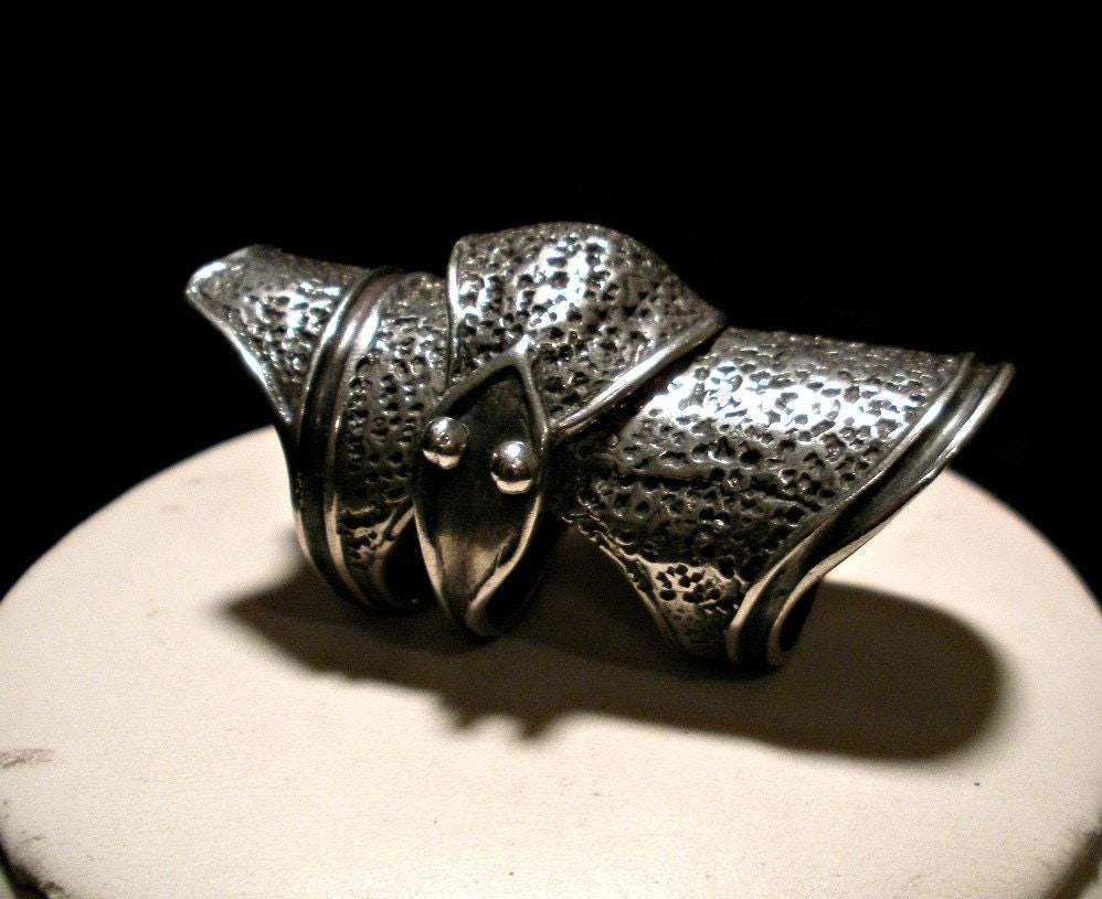 sterling silver finger armor ring
