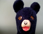 Vintage Plush Black Bear Stuffed Animal