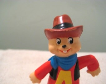 Vintage Alvin and the Chipmunks Alvin Cowboy PVC figure