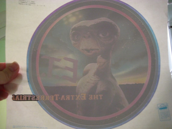 Vintage E.T. the Extra-Terrestrial Iron On Transfer