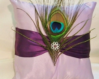 ring bearer pillow custom made satin wedding pillow