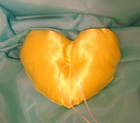 wedding ring bearer pillow custom made heart any color