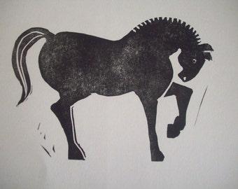 Horse Block Print