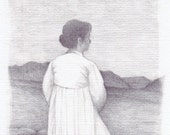 Woman in White - Postcard - FREE SHIPPING