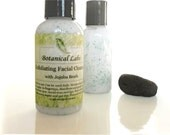 Exfoliating Botanical Facial Cleanser. Botanical Face Wash. Jojoba beads, Aloe, Shea butter, Rosemary and Mint