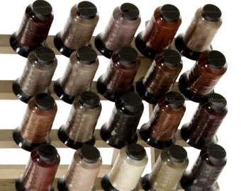 20 Spools BROWN Embroidery Machine Thread